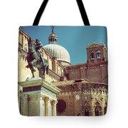The Equestrian Statue Of Bartolomeo Colleoni In Venice Tote Bag