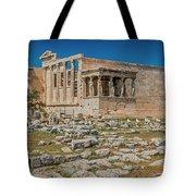 The Erechtheum On The Acropolis, Athens, Greece Tote Bag