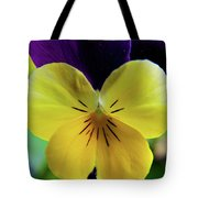 The Face Of A Pansy Tote Bag