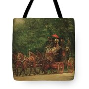 The Fairman Rogers Coach And Four Tote Bag