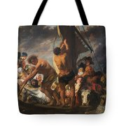 The Ferry Boat To Antwerp Tote Bag