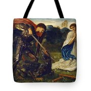 The Fight St George Kills The Dragon  Tote Bag