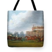 The Finish Of The St. Leger Stakes Tote Bag