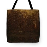 The Forest In Winter At Sunset Tote Bag