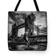 The Girl And The Dolphin - London Tote Bag