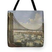 The Great East River Suspension Bridge Tote Bag