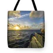 The Guided-missile Cruiser Uss Monterey Tote Bag