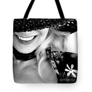 The Hat Bw Tote Bag