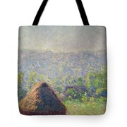 The Haystacks Tote Bag by Claude Monet