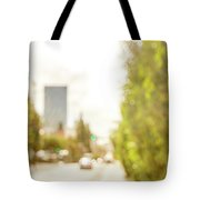 The Hedge By The Sidewalk During Day In The City Of Los Angeles Tote Bag