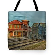 The Historic Santa Fe Railroad Station Tote Bag