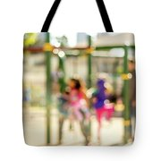 The Kids At The Playground During Day In The City Of Los Angeles Tote Bag