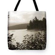 The Lake Of Two Rivers At Dawn Tote Bag