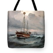 The Lightship At Skagen Reef Tote Bag