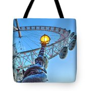 The London Eye And Street Lamp Tote Bag