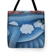 The Lone Bluebird Tote Bag