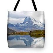 The Matterhorn And Lake Stellisee Tote Bag