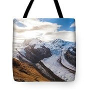 The Monte Rosa Massif In Switzerland Tote Bag