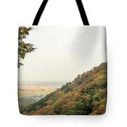 The Mountain View At The Yoro Waterfall In Gifu, Japan, November Tote Bag