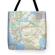The New York City Pubway Map Tote Bag