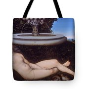 The Nymph Of The Fountain Tote Bag