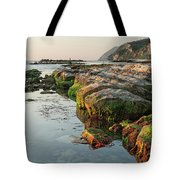 The Passetto Rocks At Sunrise, Ancona, Italy Tote Bag