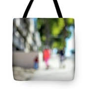 The People Walking On The Street During Day In The City Of Los A Tote Bag