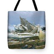 The Polar Sea Tote Bag by Caspar David Friedrich