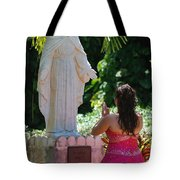 The Praying Princess Tote Bag