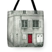 The Red French Door Tote Bag