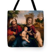 The Rest On The Flight Into Egypt With St. John The Baptist Tote Bag