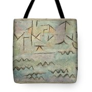 The Rhine At Duisburg Tote Bag
