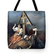 The Scene At The Grave H 1859 58h69 Am Gtg Vasily Perov Tote Bag