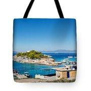 The Small Island Aponisos Near Agistri Island - Greece Tote Bag