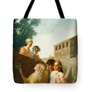 The Soldier And The Lady Tote Bag