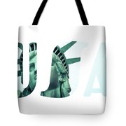The Statue Of Liberty At New York City  Tote Bag