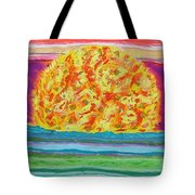 The Sun Drinks The Ocean And Eats The Sky Tote Bag
