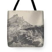 The Temple Of Concord On The Wall, Girgenti Tote Bag