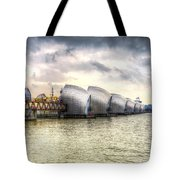 The Thames Barrier London Tote Bag
