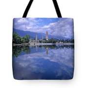 The Three Pagodas Of Dali Tote Bag