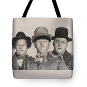 The Three Stooges Hollywood Legends Tote Bag