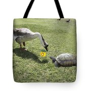 The Turtle And The Goose Tote Bag