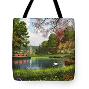 The Valley Cottage Variant 1 Tote Bag