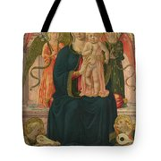 The Virgin And Child Enthroned With Angels Tote Bag
