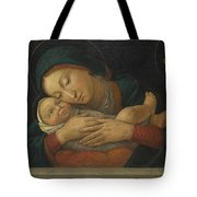 The Virgin And Child With Four Saints Tote Bag