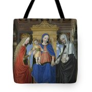 The Virgin And Child With Saints Tote Bag