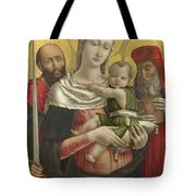 The Virgin And Child With Saints Paul And Jerome Tote Bag