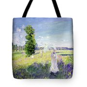 The Walk Tote Bag by Claude Monet