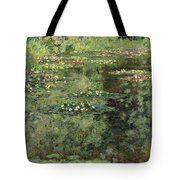 The Water-lilies Pond  Tote Bag