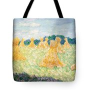 The Young Ladies Of Giverny, Sun Effect Tote Bag